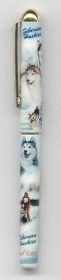 Quality Writing Pen SIBERIAN HUSKY Rollerball Black Ink Pen