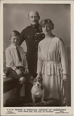 Jack Russell Terrier & Prince Arthur Of Connaught & Family Royalty  Dog Postcard