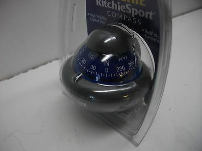 * Ritchie X-10W-M RitchieSport Bracket Mount Compass Grey with Blue Dial