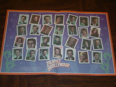Vintage 1995 Planet Hollywood Paper Placement in Excellent Condition!