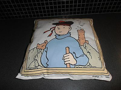 Tintin, Kuifje; very RARE large pillow 35x35cm 1993