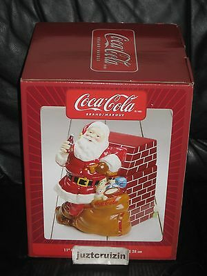 Coca Cola Santa At Fireplace Gibson Cookie Jar