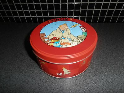 Tintin, Kuifje; beautifull metal tin, 1990's