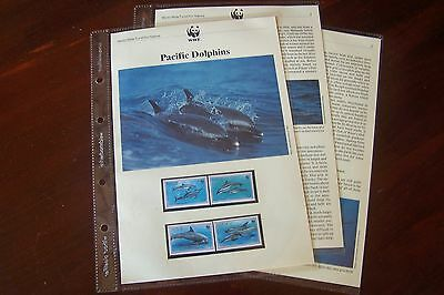 Niue 1993 WWF Set on Page + Information UH + 4 FDC's 2 Scans