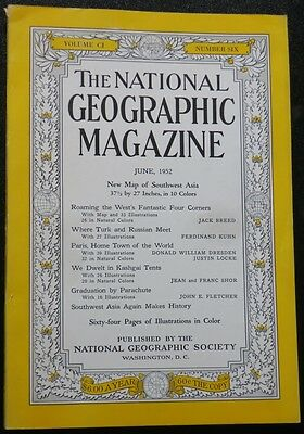 TWO National Geographic Magazines: June 1952-SW ASIA; Dec 1968, SE Asia;MAPS