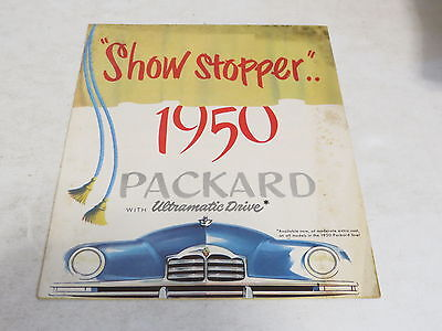 * Vintage Show Stopper 1950 Packard With Ultramatic Drive Automobile Brochure *