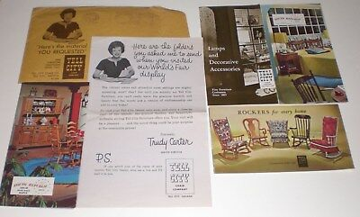 Tell City Chair Company Furniture IN Vintage Brochure Lot Young Republic Maple