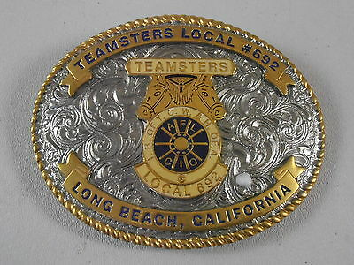 Teamsters Local 692 Long Beach California CA Belt Buckle Western Horse Jim Vess