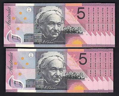 R-219.  2001 $5 - MacFarlane/Evans. Federation x 11 Notes. All Prefix DF 01