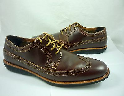 Timberland Men's 13 Earthkeepers Kempton Leather Wingtip Oxford Shoes Brown $140