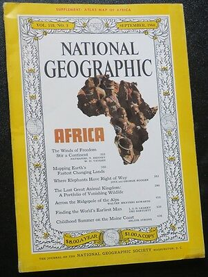 TWO National Geographic Magazines: Sept 1960-and March 2001, LARGE MAP OFAFRICA