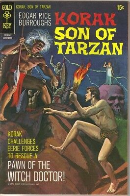 Korak Son of Tarzan Comic Book #38 Double Cover Gold Key 1970 VERY FN/NEAR MINT