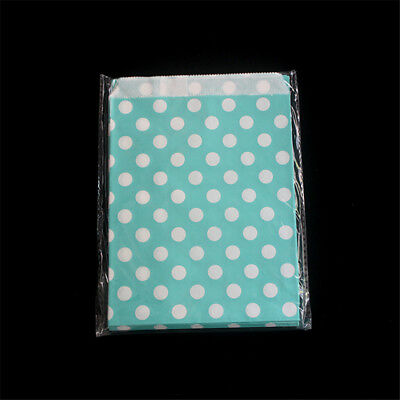 25 pcs Retro Polka Dot Sweets Candy Popcorn Food Wedding Gift Paper Party Bags