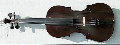 Old Antique full sized violin, labeled Eduard Reichert, Dresden, 1899, #1292