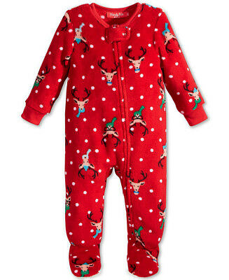 CHARTER CLUB $34 NEW 0647 Jumpsuit Pajama Unisex Baby Toddler One-Piece 2T 3T