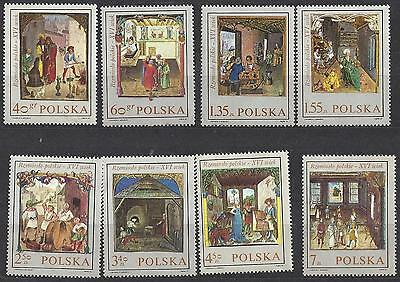 1969 Polish stamps set of 8  Miniatures From Behem's Code series mnh