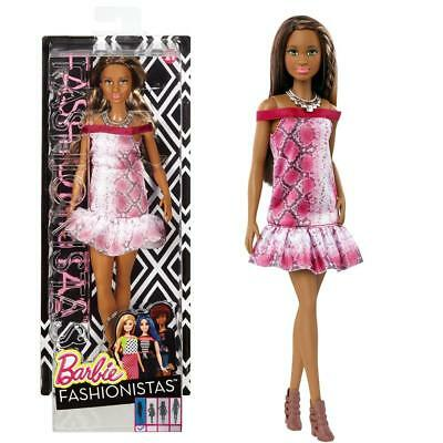 Barbie - Fashionistas 21 - Original - Doll in dress with snake pattern