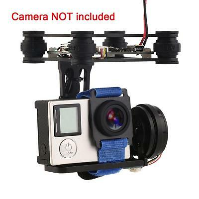 Black FPV 2 Axle Brushless Gimbal With Controller For DJI Phantom GoPro 3 4 WC