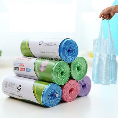1-Roll 100pcs Rubbish Garbage Toilet Clean-up Waste Trash Bags 62x22cm 4Colors