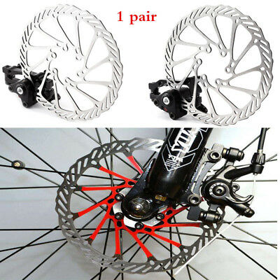 2Pcs Bike Front Rear Caliper Mechanical Disc Brake Cycling Bicycle MTB Parts New