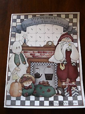 Pipsqueaks Time for The Holidays: Kathy Walters: Folk Art: 1995::  :Preloved