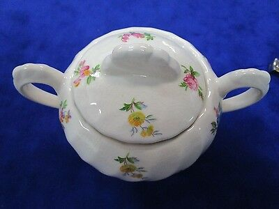"Clarice Cliff ""Dimity"" large Lidded Sugar Bowl"