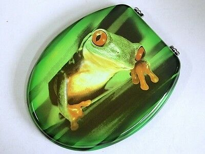 1X New Green Frog Toilet Seat & Cover