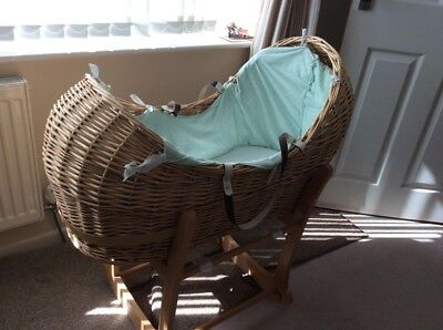 Wicker Moses Basket Mothercare 'Snug' + Stand