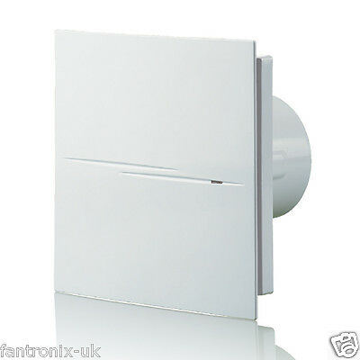 """Quiet Silent Bathroom Shower Extractor Fan Low Noise Timer Pull Cord Humidity 4"""""""