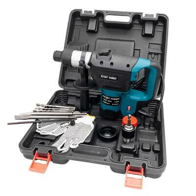 "High Quality 1-1/2"" Electric Hammer Drill Set SDS Rotary Demolition Tool Kit Set"
