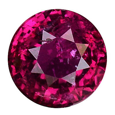 0.545 Cts Attractive Luster Pink Red Natural Sapphire Round Gemstones