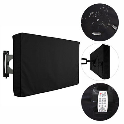 Black Waterproof Oxford Outdoor TV Cover Protector For 22-58 Inch Television