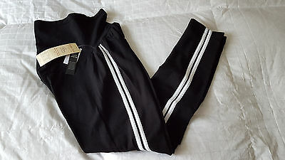 NWT Oh Baby by Motherhood Maternity Lounge  Leggings Sz.S  NEW BLK/White Stripe