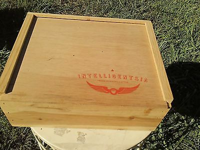 Solid Wood Intelligentsia Coffee Box With Slide Top