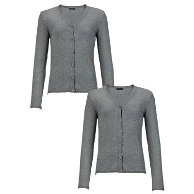 Top Class Girls 2 Pack School Cardigans Scalloped Finish