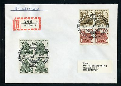 BERLIN Nr.248 VIERERBLOCK u.a. R-Brief ESSEN 19.4.1990 ME 380,-++ (129523)