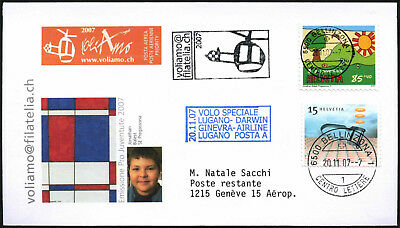 Switzerland 2007 Special Flight Cover #C43519