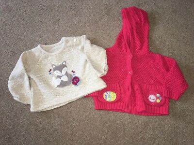 Girls Cardigan And Jumper Age 3-6 Months