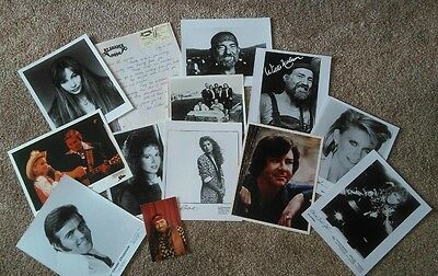 Country Music Autograph Large  Lot Promo Photos