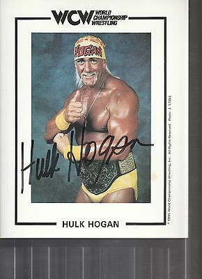 Hulk Hogan  Signed Photo Coa Photo Wcw Original Promo Photo Coa