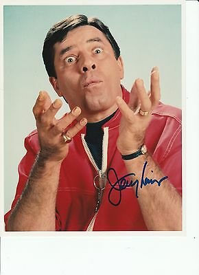 Jerry Lewis Signed Photo Coa Rare