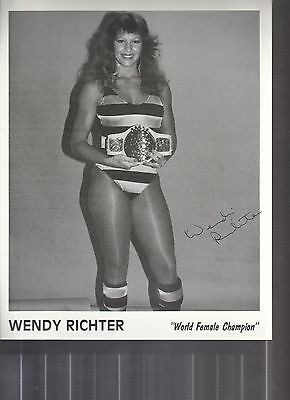 Wendy Richter Lady Wrestler Signed Photo Coa Rare Wwf Wwe Promo Photo