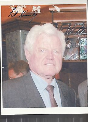 Senator Ted Kennedy Signed Original Photo Coa