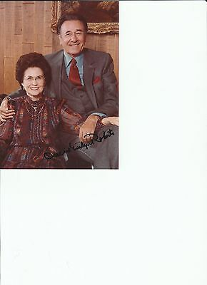 Oral Roberts Evangelist And Evelyn Roberts Signed Photo Coa