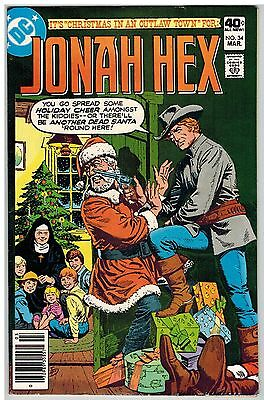 Jonah Hex #34 1980 Christmas Cover/story Dc Bronze Age!