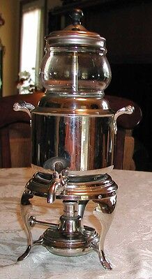 Vintage silverplate coffee/tea pot perculator urn VGC