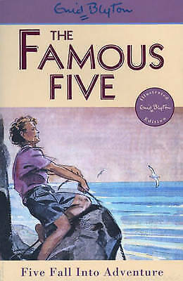 NEW (9)  FIVE FALL INTO ADVENTURE ( FAMOUS FIVE book ) Enid Blyton