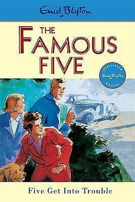 NEW (8)  FIVE GET INTO TROUBLE ( FAMOUS FIVE book ) Enid Blyton