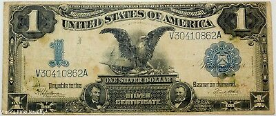 1899 $1 Large Dollar Silver Certificate Well Circulated US Currency Bill