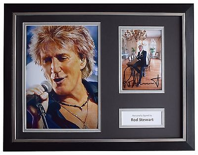 Rod Stewart Signed FRAMED Photo Autograph 16x12 display Music Memorabilia COA